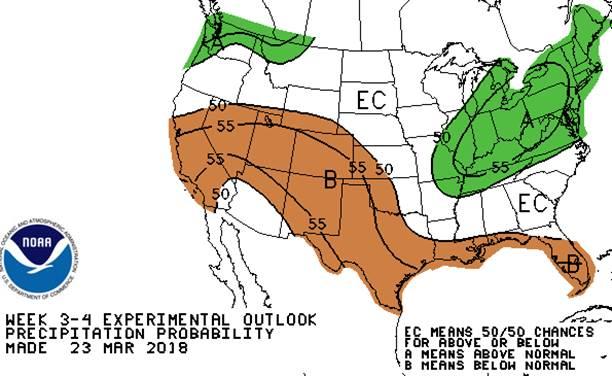 United States precipitation outlook map
