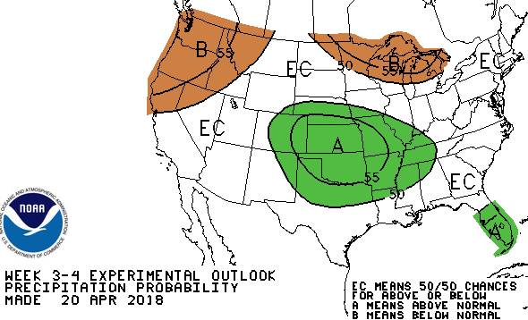 United States precipitation outlook map
